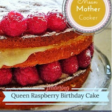 Queen Raspberry Birthday Cake