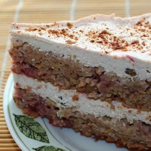 Oatmeal-strawberry-cottage Cheese Cake