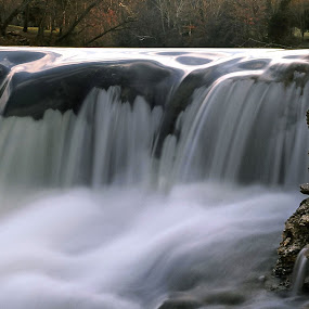 The Mist of Avalon by Charles Grubbs - Landscapes Waterscapes ( war eagle mill, king's river, falls, war eagle, river )