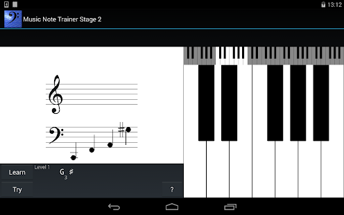 Music Note Trainer Stage 2 - screenshot