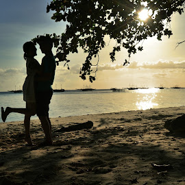Love by Bobby Stenly - People Couples ( prewed, love, prewedding, sunset, couple, beach )