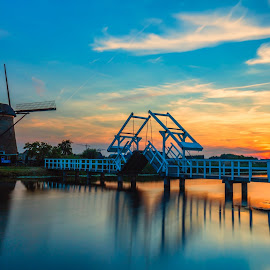 Kinderdijk by Bernard Tjandra - Landscapes Sunsets & Sunrises