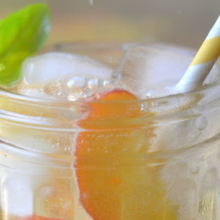 Summer Peach and Basil Sangria