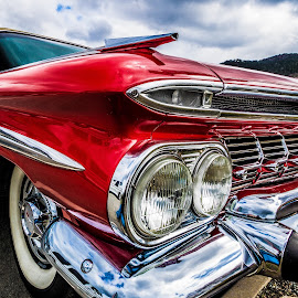 Chevy by Geir Blom - Transportation Automobiles ( red, old car, chevrolet, carshow, front )