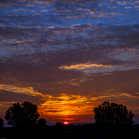 Sunset GOAL by Theodore Schlosser - Landscapes Sunsets & Sunrises ( clouds, michigan, colorful, sunset, dark,  )