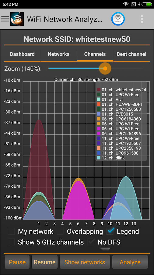 WiFi Analyzer Pro Screenshot 0