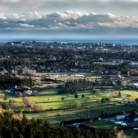 Victoria from Mt Doug by Darren Sutherland - City,  Street & Park  Vistas