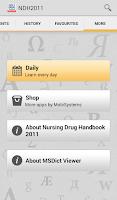 Screenshot of Nurse's Drug Handbook TR