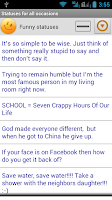 Screenshot of Statuses for all occasions