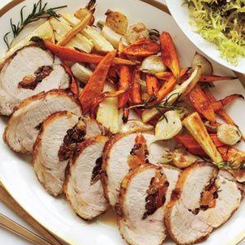 Pork Loin With Dried-Fruit And Chestnut Stuffing Recipe — Dishmaps