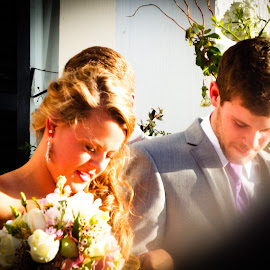 by Evelyn Clem - Wedding Bride & Groom
