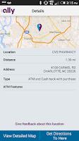 Screenshot of Ally's ATM & Cash Locator