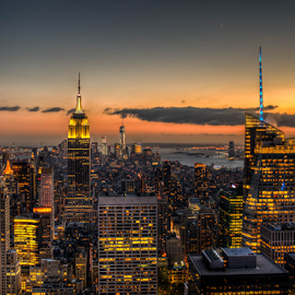 NY from Top of the Rock by Benoit Beauchamp - City,  Street & Park  Skylines