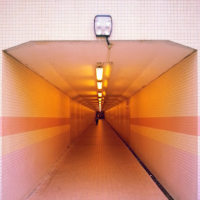 Tunnel by Kelvin Đào - Instagram & Mobile Android ( open, night, samsung note 2, yellow, light, tunnel )