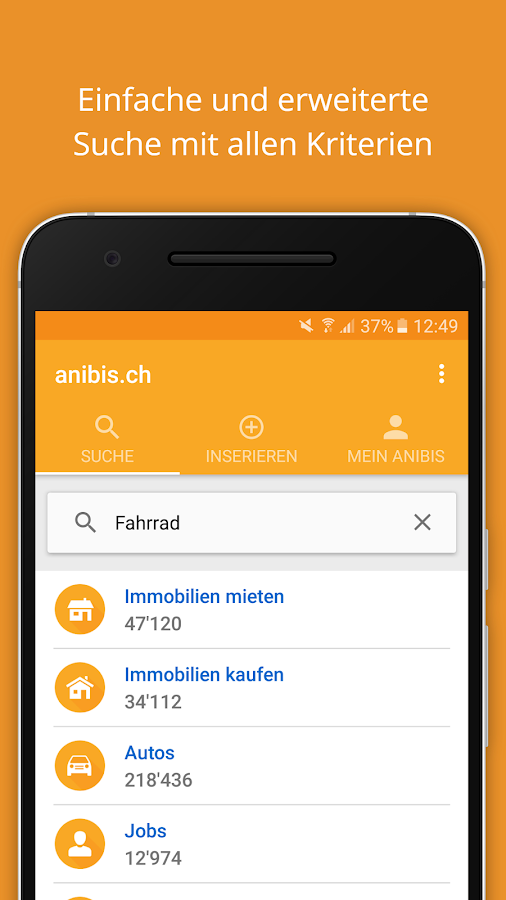 anibis.ch – free classifieds Screenshot 0