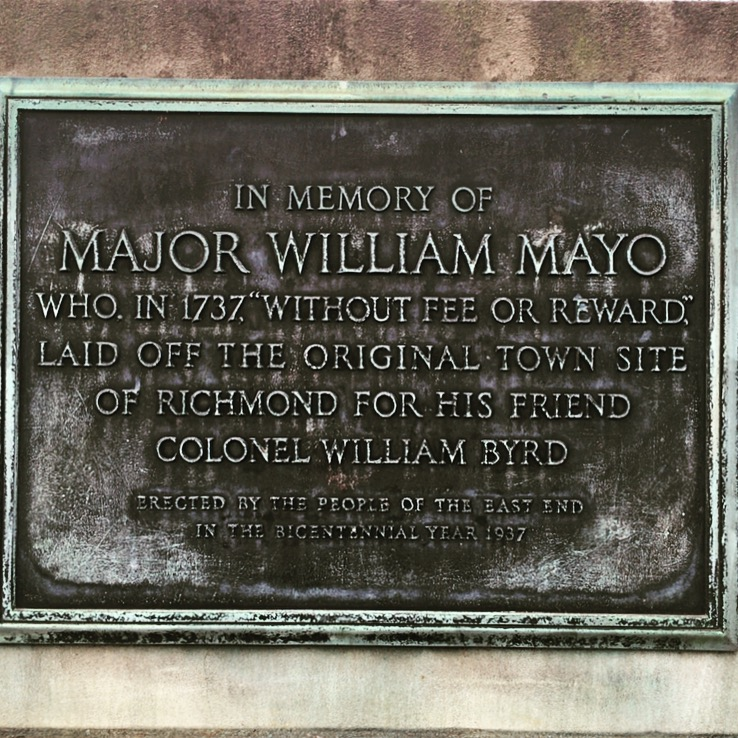 In memory of Major William Mayo Who, in 1737,