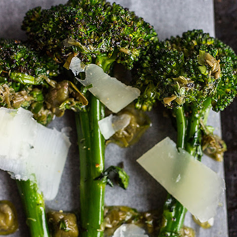 Chargrilled Long Stem Broccoli With Caper Vinaigrette