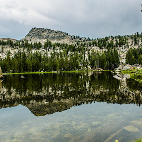 Grouse Lake in Desolation Wilderness by Billy Brooks - Landscapes Mountains & Hills ( tahoe hike, lake, mirror image, desolation wilderness )