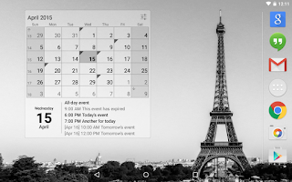 Screenshot of Calendar Widget: Month+Agenda