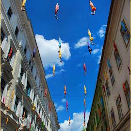 Temišvar 2018. No1 by Jasminka Nadaskic Djordjevic - City,  Street & Park  Vistas ( blue sky, street, timisoara, clouds, romania,  )