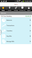 Screenshot of TCF Bank Mobile