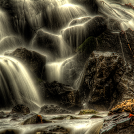 Water Up Close by Jerry Keefer - Landscapes Waterscapes ( water, rolling, waterscape, waterfall, rocks )