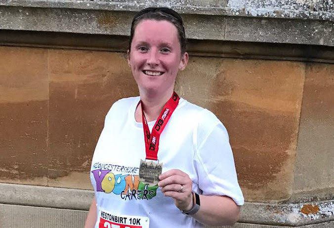 Abbie ran a 10k to support Gloucestershire Young Carers