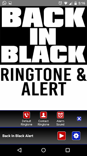 Back in Black Ringtone & Alert - screenshot