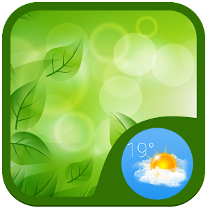 Download Green Seductive Weather Widget