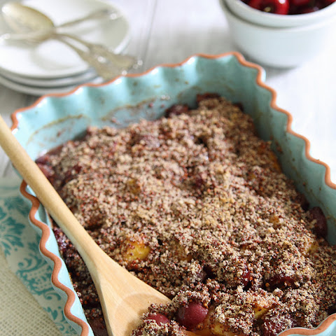 Peach And Cherry Quinoa Crumble