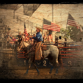 tradition by Jody Jedlicka - Digital Art People ( patriotic, digital art, midwest, rodeo, patriotism, digital photography )