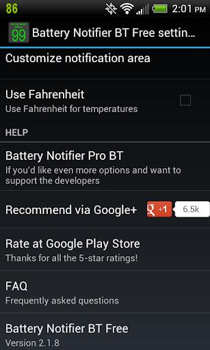 Battery Notifier BT Free screenshot 7