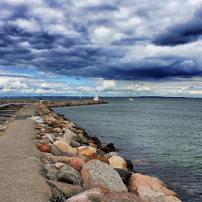 Bogense harbor by Ingrid Dendievel - Landscapes Waterscapes ( harbor, sea, denmark, bogense, landscape )