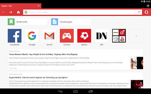 Opera Mini - fast web browser for Lollipop - Android 5.0
