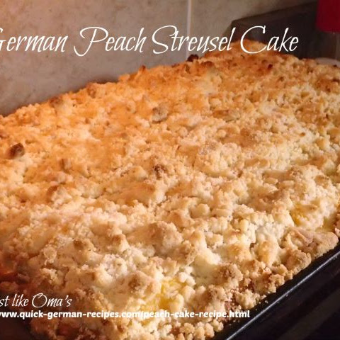 German Peach Cake