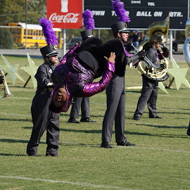 Flip by Doyle Lloyd - People Musicians & Entertainers ( back flip, marching band, talented, flip, upside down )