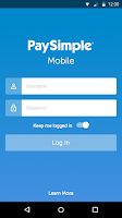 Screenshot of PaySimple Mobile