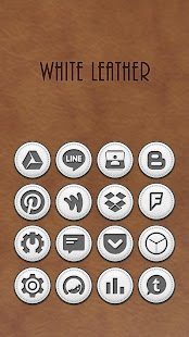 White Leather Icon Pack- screenshot thumbnail