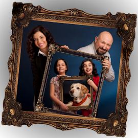 Sevinc Family by Kayhan Durukan - Digital Art People ( studio, kayhan durukan, dijital portakal, studio portrait, family portrait )