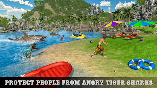 Underwater Tiger Shark Attack FPS Sniper Shooter