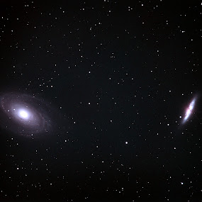 M81 and M82 Galaxies by Bill Schlosser - Landscapes Starscapes
