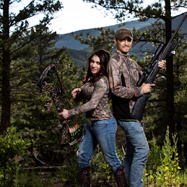 Hunting Party by Matthew Kuiper - People Couples ( mountain, hunting, couple, portrait )
