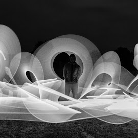 Lightpainting action  by Andi Meier - Abstract Light Painting (  )