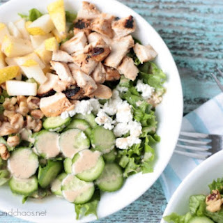 Balsamic Chicken and Pear Salad