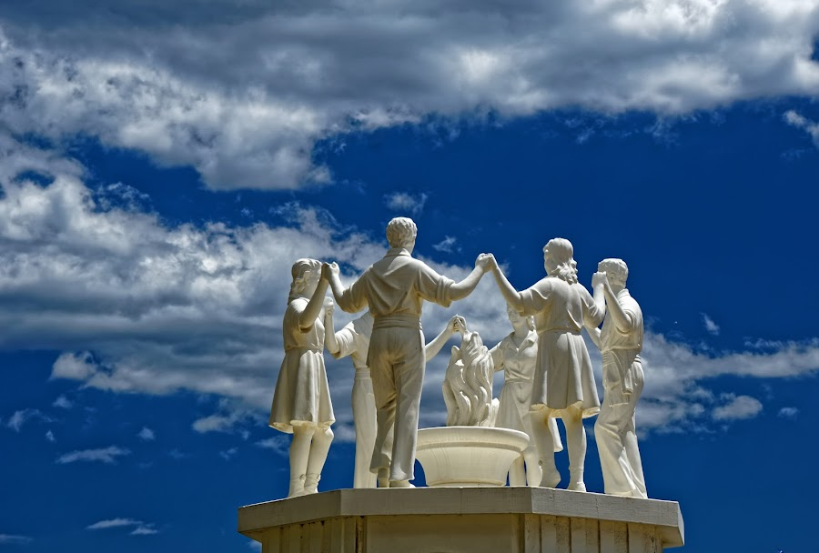 Monument in Spain by Maksim Kozlov - Buildings & Architecture Statues & Monuments ( famous, old, europe, madrid, street, travel, cibeles, architecture, capital, spain, historic, city, sky, monument, evening, light, lion, building, spanish, art, tourism, sunlight, morning, destination, history, sculpture, landmark, statue, european, flag, facade, sunset, fountain, summer, cloud, architectural, sunrise, square, day, historical, plaza, culture,  )
