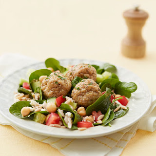 Orzo Salad with Chicken Meatballs