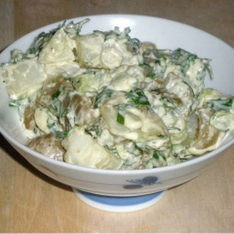 Potato Salad With Mushrooms And Cheese