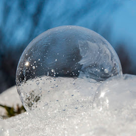 Bubble in Snow by Sue Matsunaga - Artistic Objects Other Objects