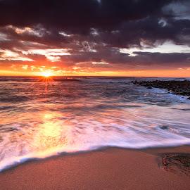 Morning Light by Lloyd Seeber - Landscapes Beaches ( seascape, beach, clouds, sun, sea )