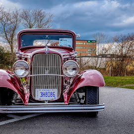 1932 Ford by Jack Brittain - Transportation Automobiles ( car, red, canada, vehicle, ontario, ford, 1932, antique )